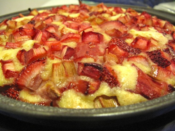 cooked rhubarb cake