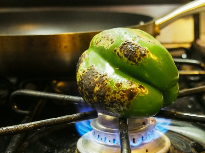 roasted green pepper pasta