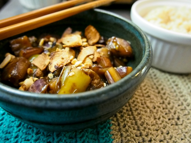 spicy sweet eggplant and green pepper-10