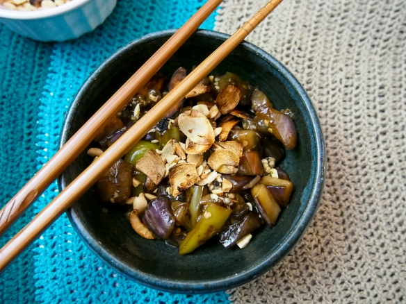 spicy sweet eggplant and green pepper-7