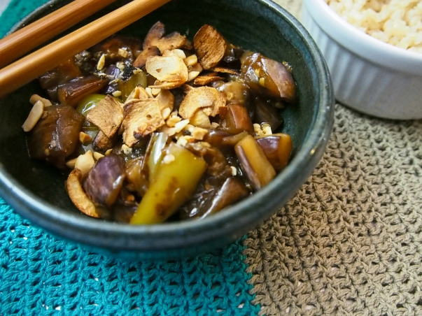 spicy sweet eggplant and green pepper-9