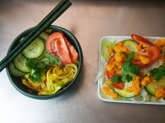 rice noodle salad w carrot dressing-8