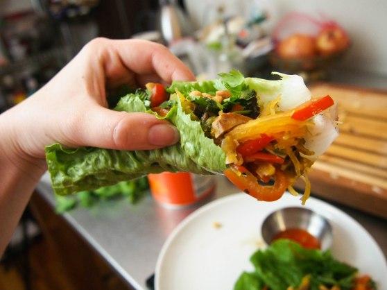 spag squash lettuce wraps-7