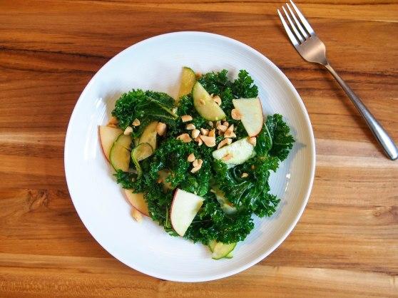 miso ginger kale salad